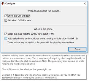 Warcraft Mouse Helper options.