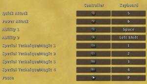 Control settings (Battle)