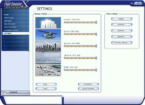 In-game general video/options menu.
