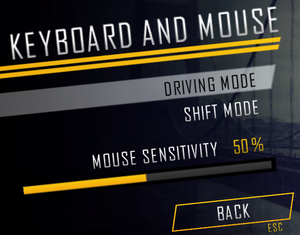 Keyboard/Mouse options.