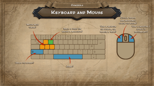 The default keyboard/mouse layout for Orcs Must Die!