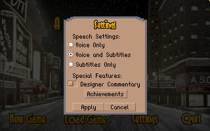 Ingame settings