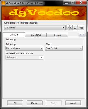 GlideExt settings.