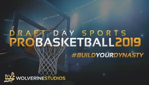 Draft Day Sports: Pro Basketball 2019 cover