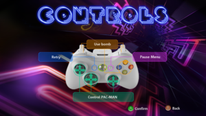 The gamepad layout.