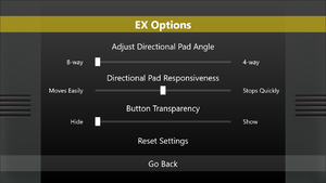 EX Touch settings.