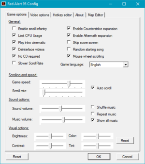 External general settings (for the fan patch).