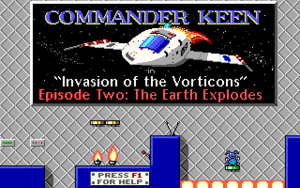 Commander Keen in The Earth Explodes cover