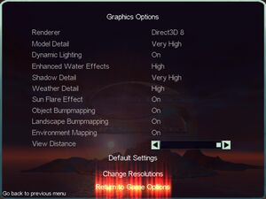 Patched graphics settings.