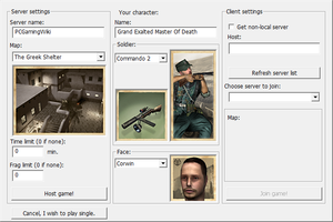 Launcher multiplayer settings.