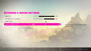 Keyboard & mouse settings