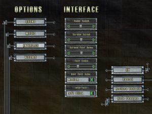 In-game interface settings.