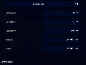 Key bindings settings