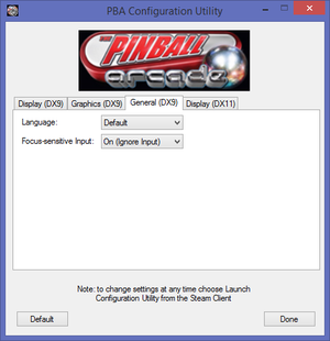 General settings. While listed as DirectX 9 settings, the language option affects both DirectX 9 and 11 versions of the game.