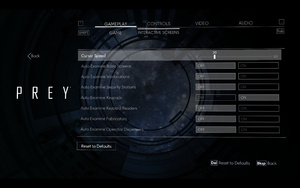 In-game interactive screens settings