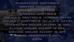General control settings