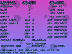 Input configuration menu.