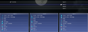Gamepad preset selection menu, displaying generic buttons. Xbox and DualShock buttons are also natively available.