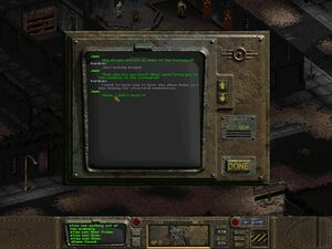 1024x768 resolution using the Fallout 1 High Resolution Patch v3.0.6.