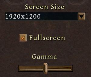 Basic graphics settings.