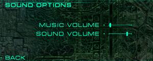 Sound settings.