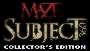 Maze: Subject 360 Collector's Edition cover