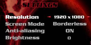 Video Settings (main launcher).
