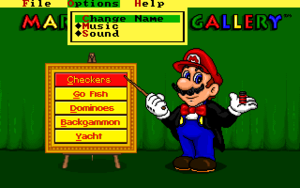 In-game options (DOS).