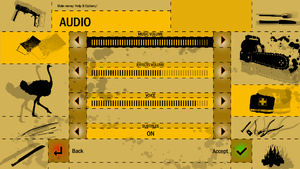 In game audio settings.