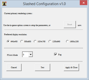General settings (configtool.exe).