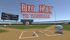 Big Hit VR Baseball cover