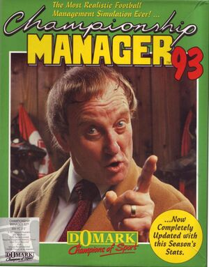 Championship Manager 93 cover