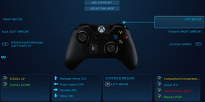 Microsoft Xbox One Controller Key Bindings through Steam Big Picture Mode
