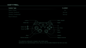 CLASSIC Controller settings.