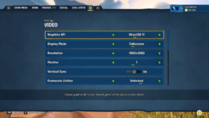 In-game Video Settings 1