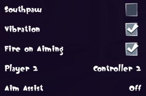 Input settings