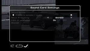 Sound Card settings