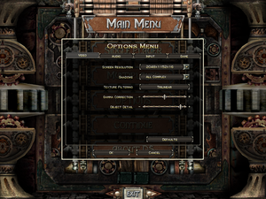 Video settings for Dungeon Siege.