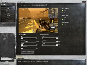 In-game HUD settings.