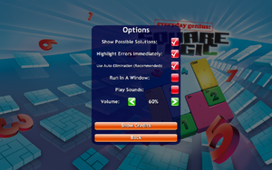 In-game general options.