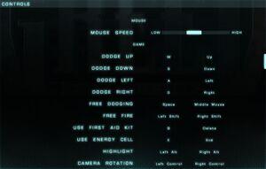 Control setting and keybindings.