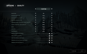 Quality settings.
