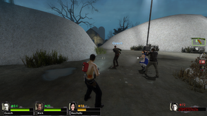 The game in third person, featuring multiple other modifications