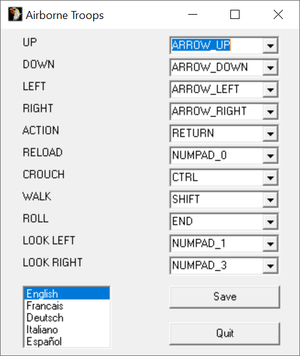 External control options and default controls.