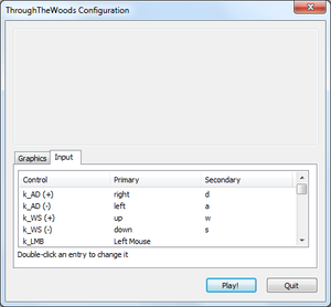 External input settings