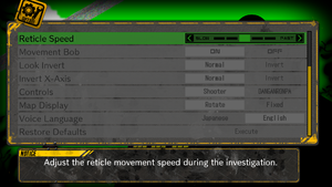 In-game general settings, second half.