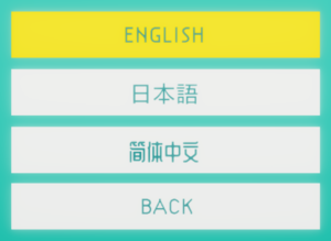 In-game language selection