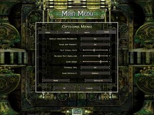 General settings for Legends of Aranna.