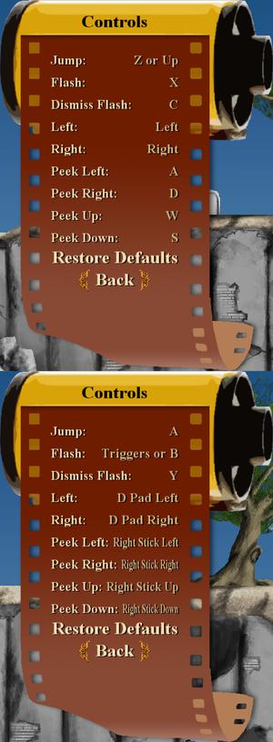 Key rebinding. Choose input device when starting the game.