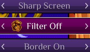 Per-game screen settings.